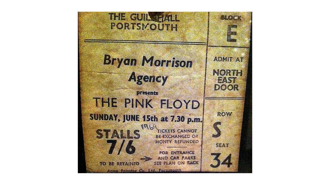 Ticket to see Pink Floyd in 1969